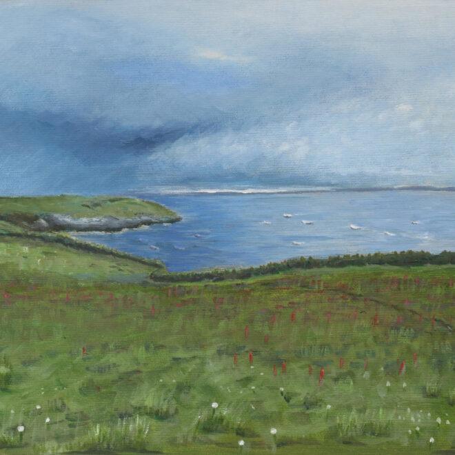 Walisische Landschaft II (60x40 cm, Acryl auf Karton, 2019)